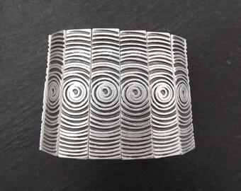 Sarmal Stretchy Silver Statement Bracelet - Authentic Turkish Style