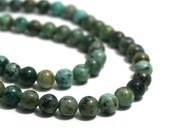 African Turquoise Jasper Beads, 8mm round natural gemstone, Full & Half strands available  (1235S)