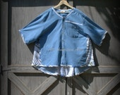 RESERVED FOR SHEILA ***Upcycled, Refashioned, Repurposed, Eco-Friendly, Boho, Man's Shirt, Ladies Tunic, Size 4XL