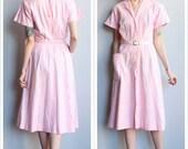 1950s Dress // BeauMar Gingham Dress // vintage 50s dress