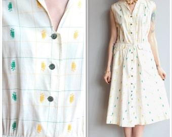 1950s Dress // Golf Club Dress // vintage 50s dress