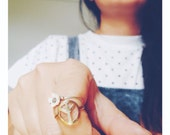 Minimal Brass 'Peace Out' Ring