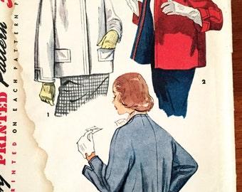 50s Simplicity 4612 Short Coat Cardigan Coverup Size 16 Bust 34