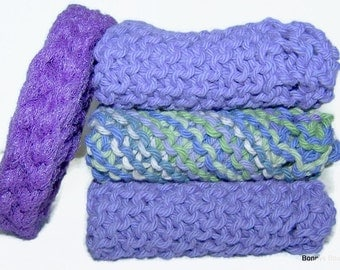 Purple Dish cloth set