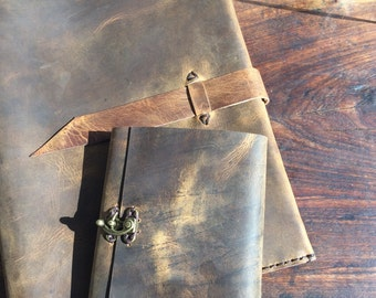 Deacon Journal / handcrafted books / leather notebook / journals / refillable leather journal / handmade book cover / leather journal / gift
