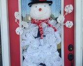 DecoMesh and BURTON Snowman Wreath