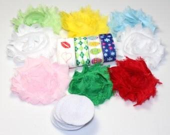 Mini Headband Kit - Spring Holidays  - DIY Headband Kit - Baby Shower Headband Bar