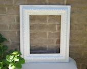 Reserved for D.  Chunky White Antique Frame Shabby Cottage Chic Picture Frame distressed White 16 x 20