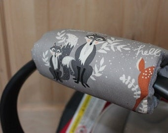 Padded handle cover- Feathers padded handle cover-hello bear handle cover
