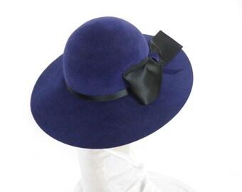 Vintage 1960s hat, wide brimmed picture hat, Chapeau Creations