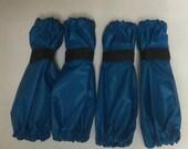 dog Leg Protector 4 piece bracelet cover set in turquoise blue color standard poodle size