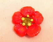 Reserved for EJMaine Orange Poppy by Mystic Moon Beads