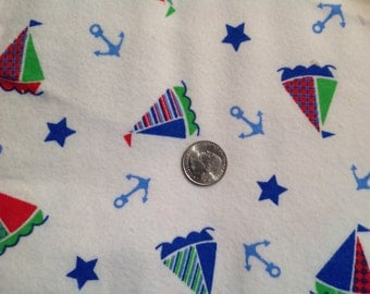 Nautical Flannel Fabric