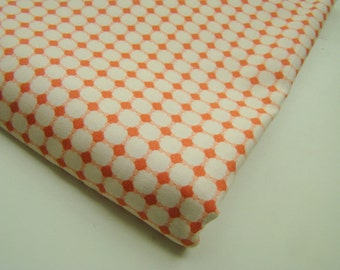 Coral Graphic Dot Fabric, Art Gallery Quilts Fabric, OOP