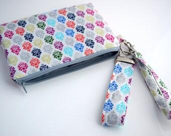 Clutch Purse, Wristlet Wallet, Cellphone Wallet, Smartphone Purse, Handmade, Ready to Ship
