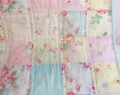 Custom Order for Maribeth     Baby Quilt, Baby Blanket, Princess Rose