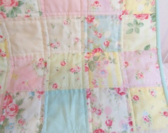 Baby Quilt, Baby Blanket, Princess Rose