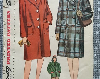 1940s Coat Pattern- Simplicity 4563