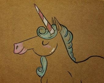 Unicorn Ink Drawing