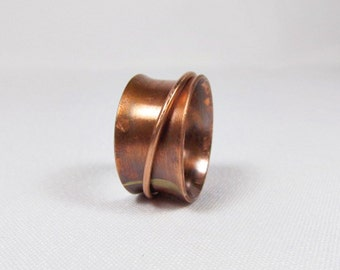 Smooth Copper Spinner Ring for Women