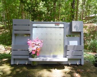 Dry Erase Magnetic Calendar--3 Slot Mail Organizer--Large Message Center--Wall Decor--Entry Way--Kitchen organizer