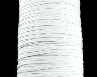 White Skinny Elastic 1/8 inch for Baby Headbands - Hairbow Supplies, Etc.