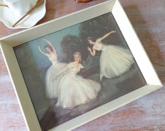 RESERVED for Chrissy - Vintage Framed Ballerina Print