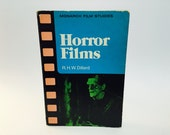 Vintage Non-Fiction Book Horror Films by R.H.W. Dillard 1976 Softcover Film Studies
