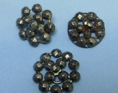 3 Antique Steel Cuts Buttons Victorian 1/2 inch Vintage Buttons 393