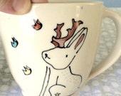 Reserved for Sarah - Jackalope Mug