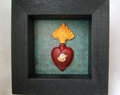 The Heart Sees - Mixed Media Assemblage Art