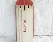 Vintage Red White Wall  Knife Holder