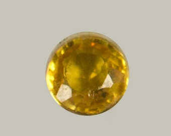 SAPPHIRE (20591) Yellow 3mm Round  - Faceted
