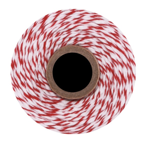 Cherry Divine Twine (240 yds) Red and White