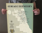Chicago Breweries Print - 16x20 Art Print