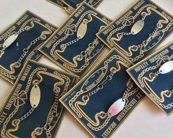 Vintage Japan novelty charm identification kiddie bracelet-NOS-