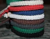 simple thick hemp bracelet-you choose the color, macrame, hippie, natural, music festivals, hemp jewelry