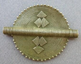 African Brass Pendant