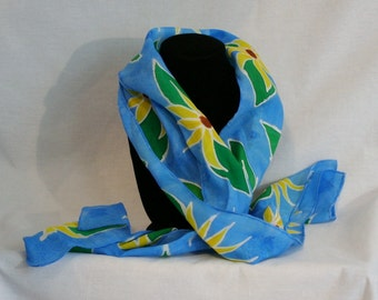 sunflowers silk scarf hand painted
