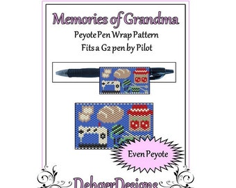 Bead Pattern Peyote(Pen Wrap/Cover)-Memories of Grandma