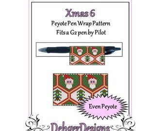 Bead Pattern Peyote(Pen Wrap/Cover)-Xmas 6