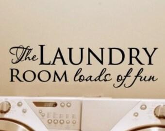 Laundry room door decal, Laundry room decorations, laundry room wall decal, laundry room sign, laundry room vinyl,