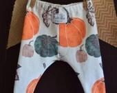 Fall Baby Leggings, Designed by MilliLee Organics, Pumpkin baby leggings, baby legware, baby pants, fall legging