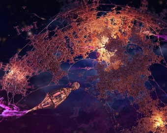 The Spindly Orbital - Print - Mandelbulb Art by Masha Falkov