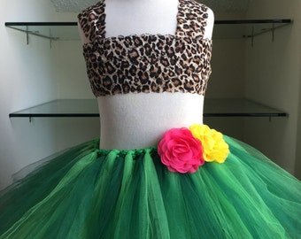 Katy Perry Inspired Adult Tutu Skirt- Jungle Tutu Costume- Halloween Tutu Skirt- Katy Perry Halloween Costume, Womens Tutu