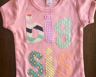 Big Sis Shirt, Big Sister Shirt, Big Sister Announcement Shirt, New Big Sister, Sibling Shirt - Choose Sleeve Length and Shirt Color