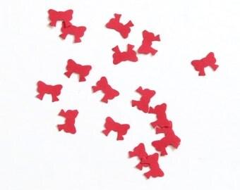 Red Confetti Bows 600 Pieces