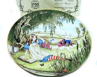 Garard Boyer Limoges Alice in Wonderland Plate White Rabbit