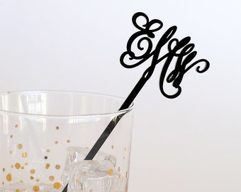 Custom Monogram Stir Stick (Set of 25)