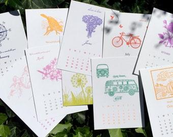 2017 Letterpress Calendar